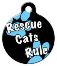 Rescue Cats Rule Cat ID Tag