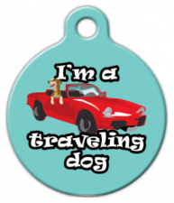 I'm a Traveling Dog ID Tag