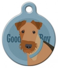 Good Boy Airedale Dog ID Tag