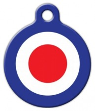 60's Mod Roundel Pet ID Tag