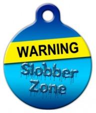 Slobber Zone Pet ID Tag