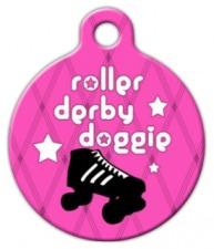 Roller Derby Doggie Pet ID Tag