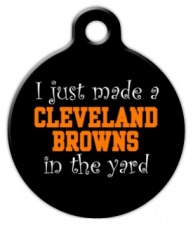 Anti Cleveland Browns Dog ID Tag