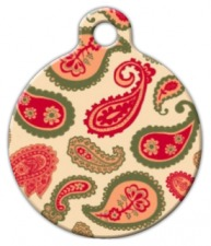 Desert Sunset Paisley Dog ID Tag