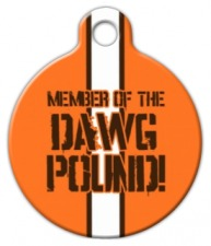 Dawg Pound Browns Pet Collar Tag