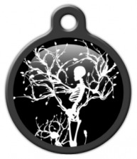 Gothic Winter Skeleton Dog ID Tag
