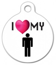 I Love My Human Dog ID Tag