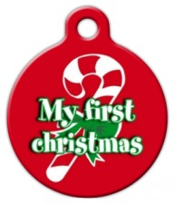 My First Christmas Pet ID Tag