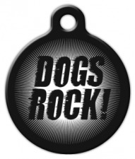 Dogs Rock Dog ID Tag