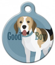 Good Boy Beagle Dog ID Tag