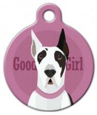 Good Girl - Great Dane Pet ID Tag