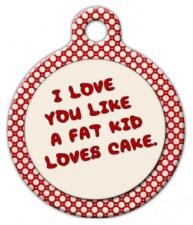 Fat Kid Pet ID Tag