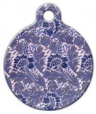 Lavender Flower Pattern Pet ID Tag