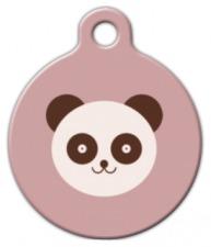Panda Bear Dog Name Tag