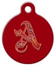 Royal Monogram A-Z Dog Collar Tag