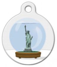 New York Snow Globe Pet ID Tag