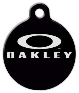 Oakley logo black Dog Tag by Dog Tag Art