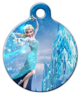 Custom Dog Tag Frozen Elsa By Meddek D W H on Lupine Dog Collars