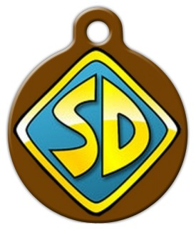 Scooby doo dog tag by dog tag art