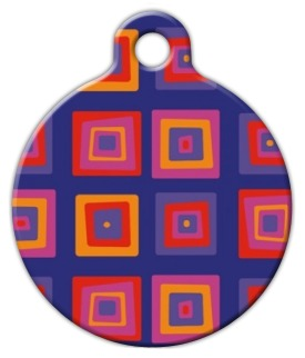 Ruby Cube Lupine Pattern Pet Identity Tag