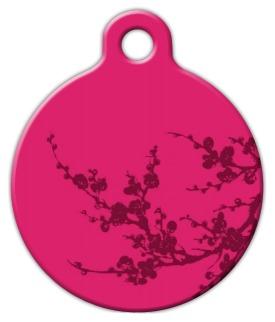 Plum Blossom Lupine Pattern Pet ID Tag