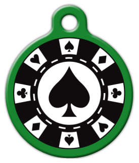 Poker Chip Pet Collar Tag