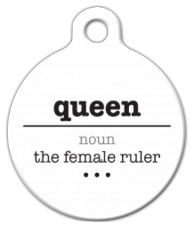 Dog Tag Definition Of Queen on Lupine Dog Collars