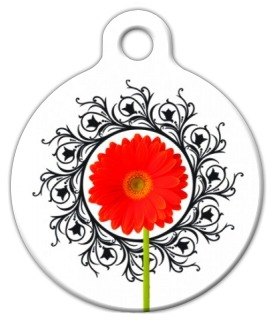 Gerber Flower Pet ID Tag