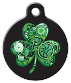 Lean Green Irish Machine Dog Tag