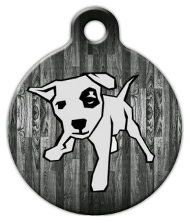 Wood Panel Dog ID Tag