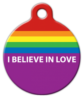 Believe in Love Dog Tag for Dogs