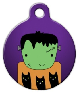 Frankenstein Halloween Cat ID Tag