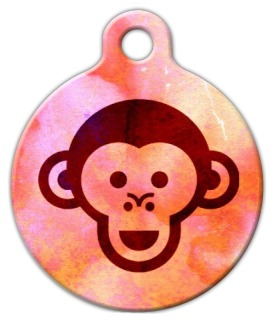 Monkey Face Pet Identity Tag
