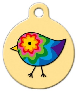 Colorful Chick Pet ID Tag