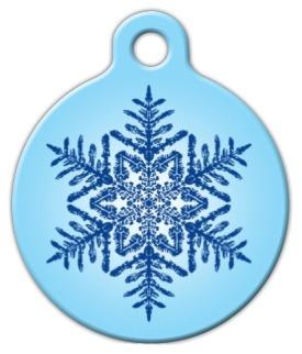 Snowflake Dog ID Tag