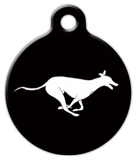 Running Greyhound Dog ID Tag