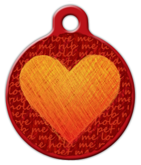 Love Me Pet Me Dog Collar Tag
