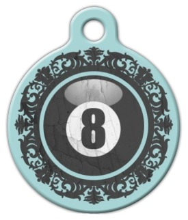 Victorian 8 Ball Dog ID Tag