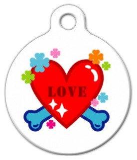Love Heart and Bones ID Tag
