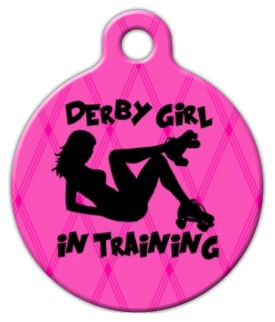Derby Girl in Training Dog Tag