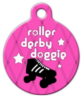 Roller Derby Doggie Pet ID Tag