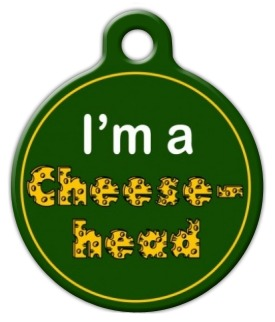 Green Bay Packers Cheese Head ID Tag