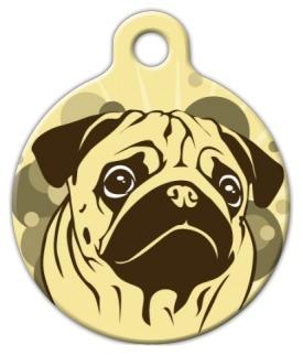 Sienna Pug Pet Identity Tag
