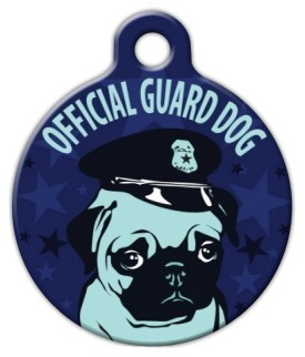Pug Guard Dog Pet ID Tag