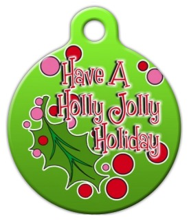 Holly Jolly Holiday Pet ID Tag