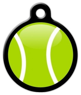 My Tennis Ball Pet Tag