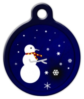 Snowman Pet ID Tag