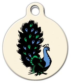Classic Peacock Tattoo Tag