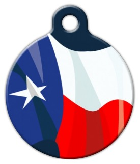 Texas Flag Pet ID Tag