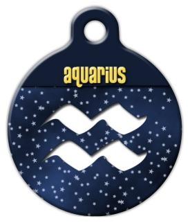 Aquarius Symbol Pet ID Tag
